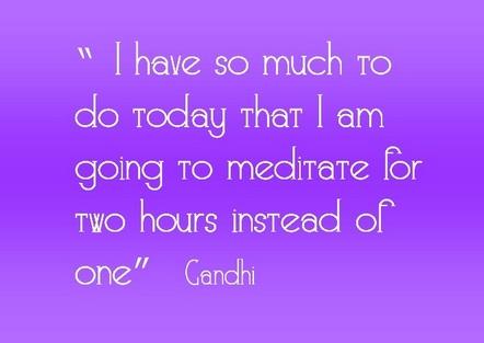 meditate Gandhi